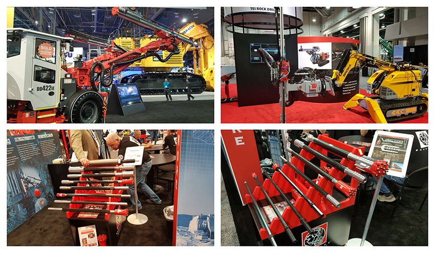 MINExpo 2016 Machinery, Threaded Drilling tools.